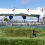 Views of Bear Mountain as crews prepare the course for the PGA Pacific Links Championship in Victoria, British Columbia on Monday September 19, 2016